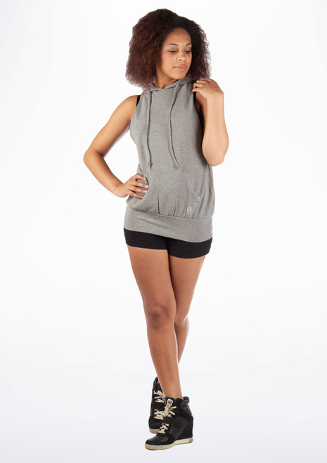 Dincwear Ladies Muscle Back Sweat Top Grey [Grey]