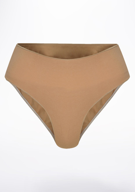 Capezio Mens Comfort Dance Belt Tan front. [Tan]