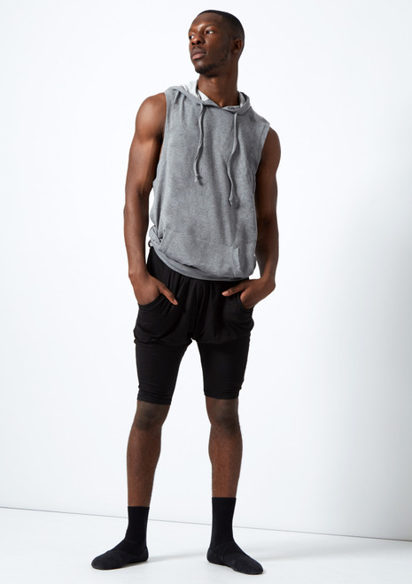 Dincwear Unisex Harem Shorts Black. [Black]