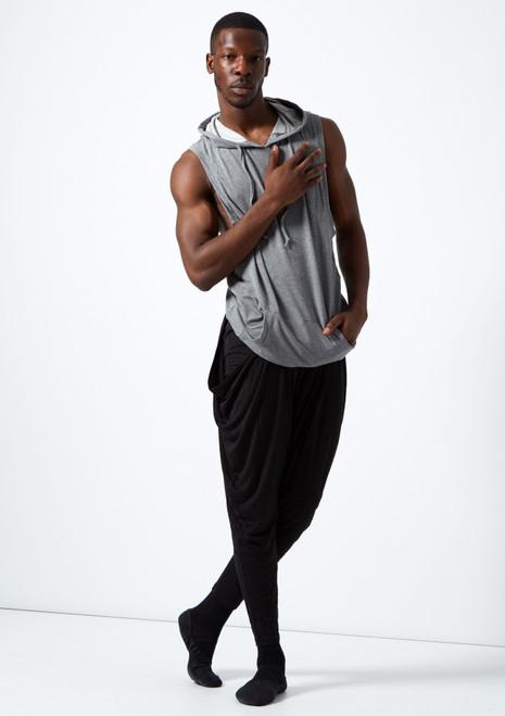 Dincwear Harem with Hidden Shorts Black front. [Black]