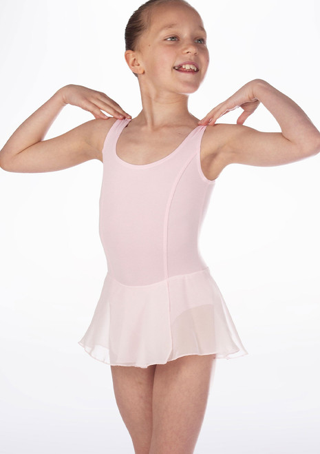 Repetto Confirmes Girls Skirted Tunic Leotard Green front. [Green]