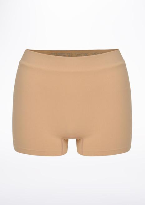 Repetto Seamless Shorts Tan front. [Tan]