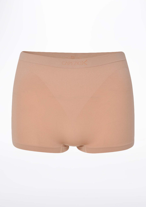 Capezio Nude Foundation Shorts Tan front. [Tan]