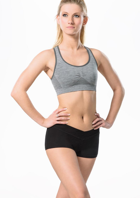 Move Rufina Seamless Bra Top Grey front. [Grey]