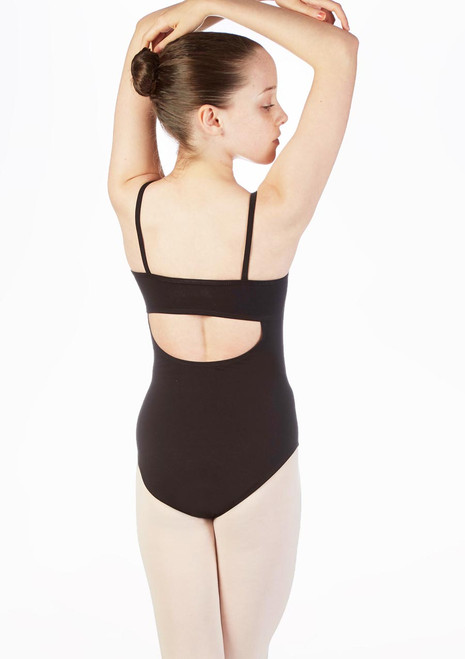 Move Dance Ranee Camisole Leotard Pink-White back. [Pink-White]