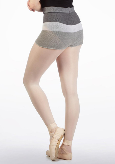 Intermezzo Striped Roll Top Dance Short Grey back. [Grey]