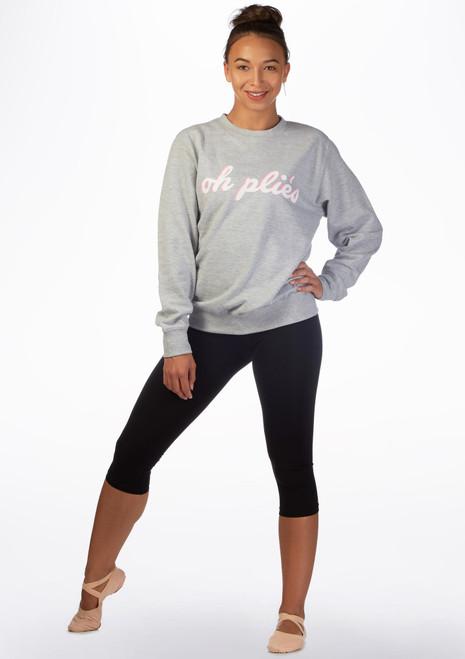 Kelham Plie Dance Sweater Grey front. [Grey]