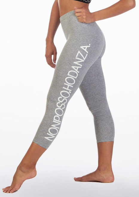 Non Posso Ho Danza Slogan Leggings Grey front. [Grey]