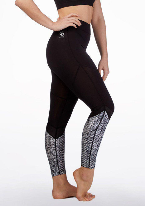 Dare2b Regenerate Fitness Leggings Black front. [Black]