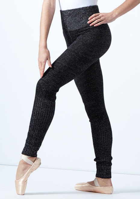Intermezzo Knitted Warm Up Pants Black-Grey front. [Black-Grey]
