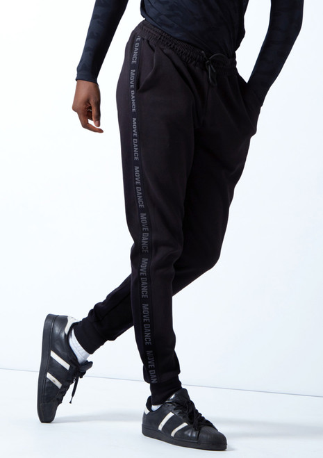 Move Dance Men's Urban Dance Joggers Black Front-1T [Black]