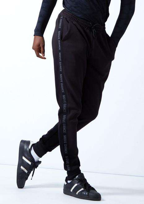 Move Dance Men's Urban Dance Joggers Black Front-1T [Black]