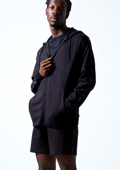 Move Dance Men's Pulse Zip Up Hoodie Black Front-2T [Black]
