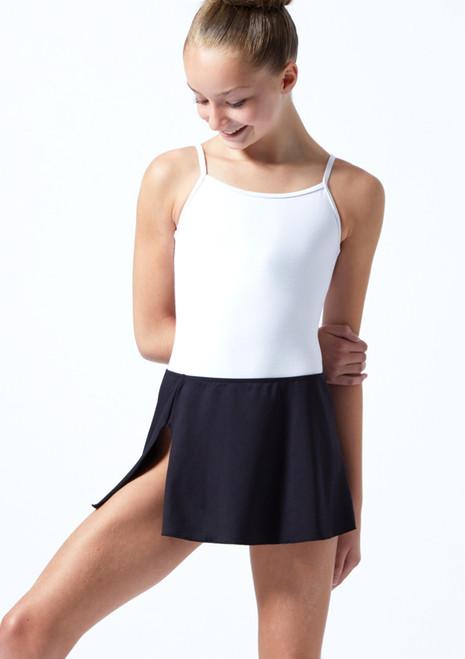 Ballet Rosa Teen Pull On Skirt Black Front-1T [Black]