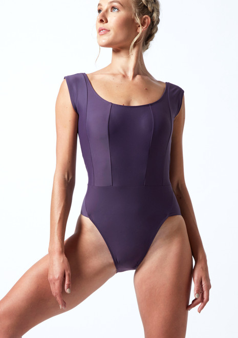 Move Dance Anastasia Scoop Neck Leotard Grape Front-1T [Grape]