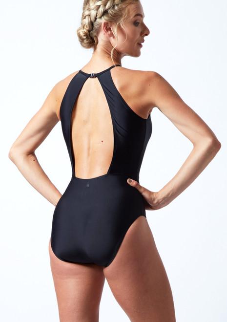 Move Dance Valentina High Neck Leotard Black Back-1T [Black]