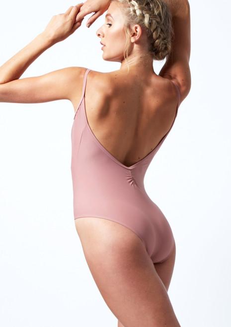 Move Dance Audrey Low Back Leotard Pink Back-1T [Pink]