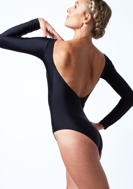 Move Dance Clementine Long Sleeve Leotard Black Back-1T [Black]