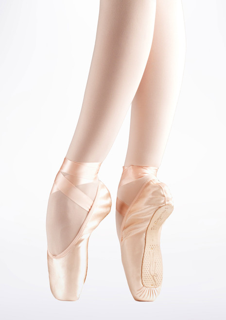 Repetto Carlotta Medium Shank Pointe Shoe Pink. [Pink]