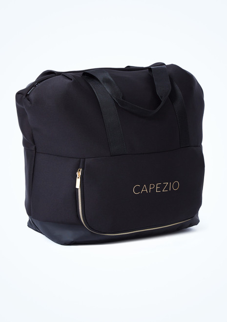 Capezio Signature Tote Dance Bag Black Front-1T [Black]
