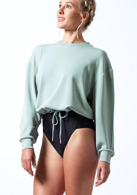 Move Dance Cecelia Jersey Dance Sweatshirt Teal Front-1T [Teal]