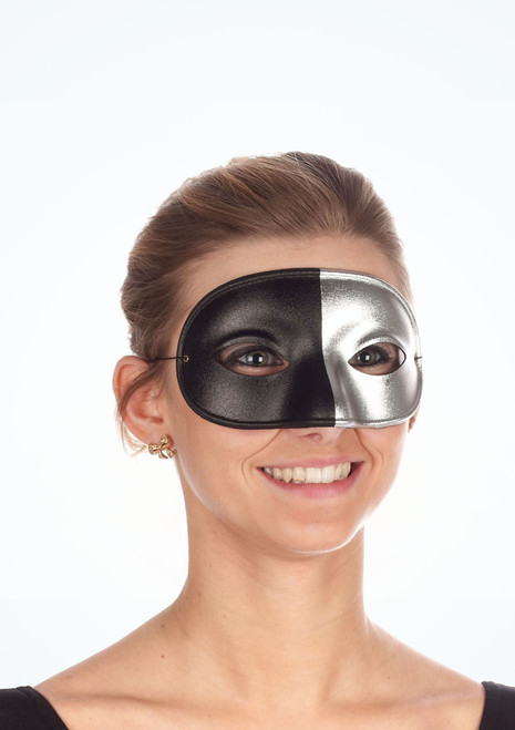 Domino Two Tone Eyemask* Silver. [Silver]