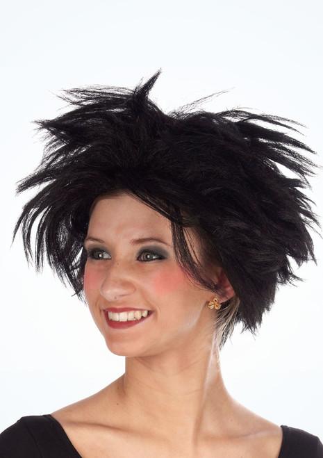 80s Rock Star Wig Black. [Black]