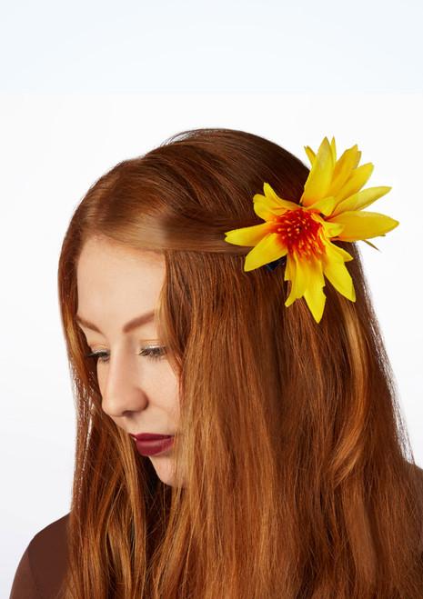 Double Flower Hair Clip Multi-Colour front. [Multi-Colour]