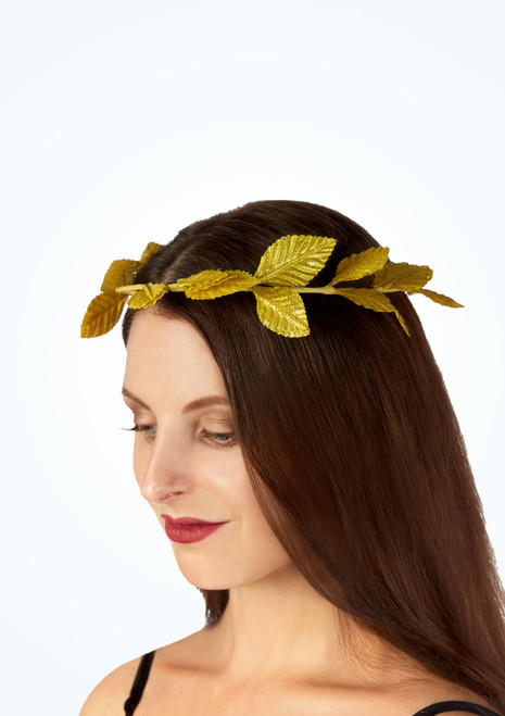 Deluxe Roman Laurel Headband Gold main image. [Gold]