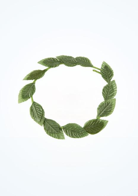 Roman Laurel Leaf Headband Green top. [Green]