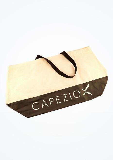 Capezio Large Canvas Tote Tan front. [Tan]