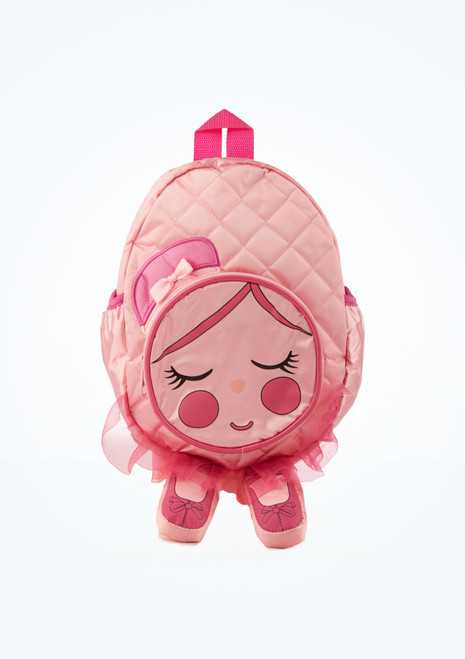 Capezio Quilted Chloe Backpack Pink front. [Pink]