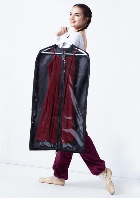 Capezio Garment Bag Black front. [Black]