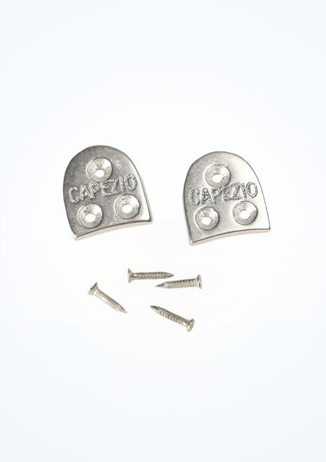 Capezio Duo Tone Heel Taps Size 10 Silver. [Silver]