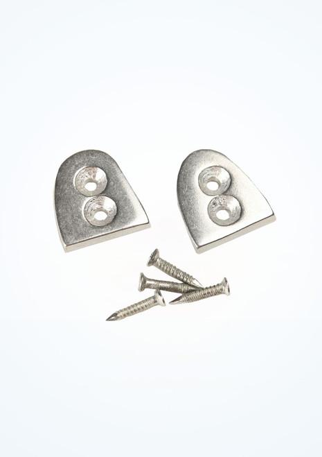 Capezio Duo Tone Heel Taps Size 8 Silver. [Silver]