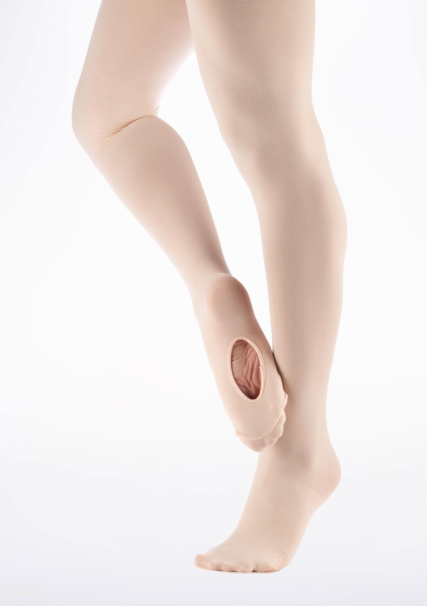 Move Convertible Toe Ballet Tights Kids Pink. [Pink]