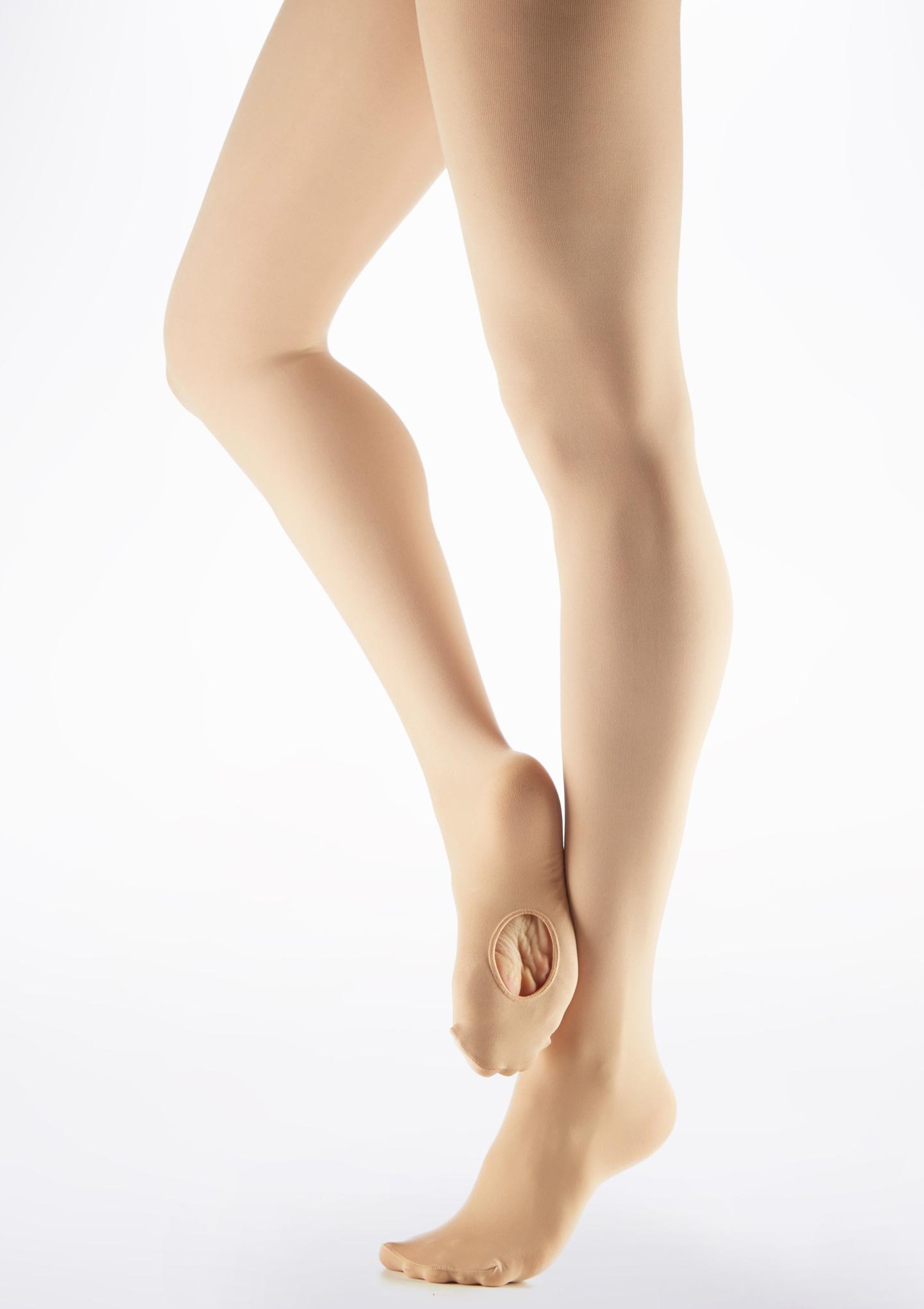 Move Convertible Toe Ballet Tights Kids Light Tan Brown main image. [Brown]