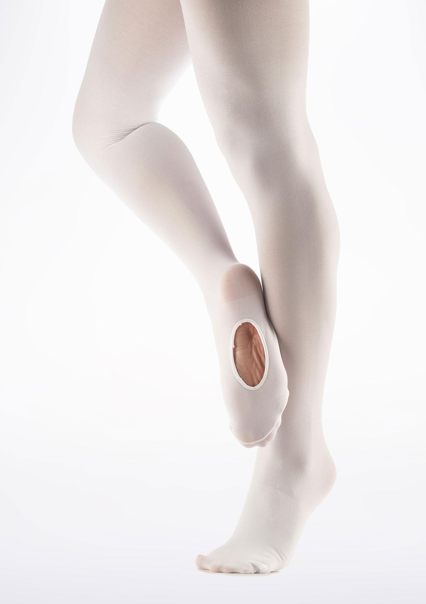 Move Convertible Toe Ballet Tights White main image. [White]