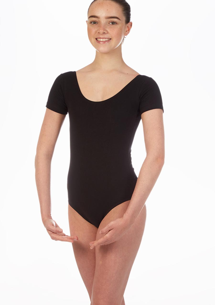 Move Dance Faye Leotard Black front. [Black]