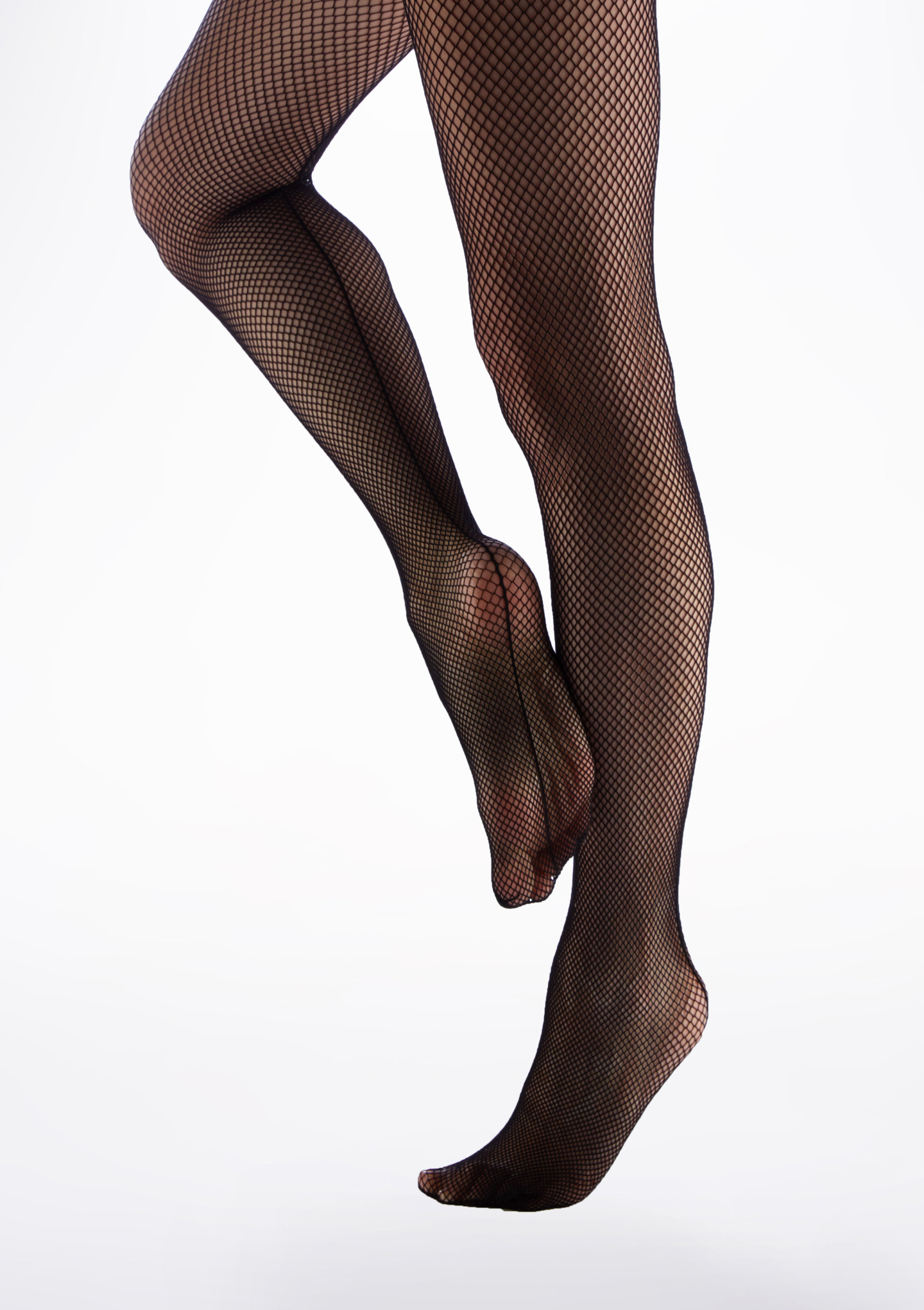 Capezio Studio Basics Fishnet Tights Black back. [Black]