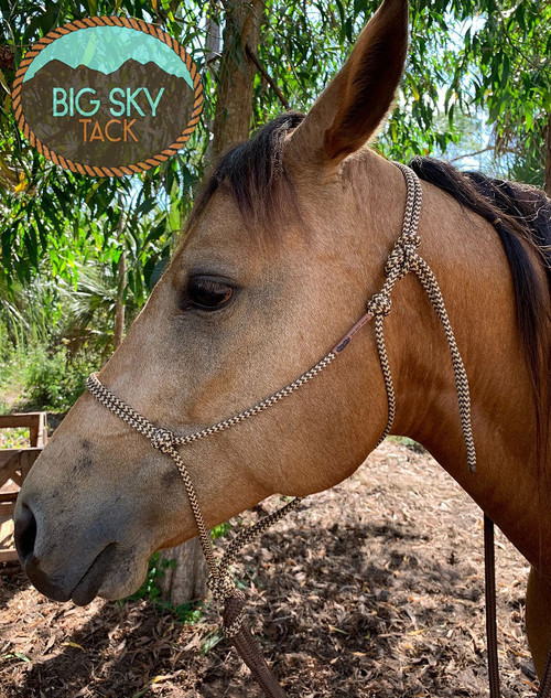 Soft Rope Halter-Brown/Tan ZZ |Big Sky Tack
