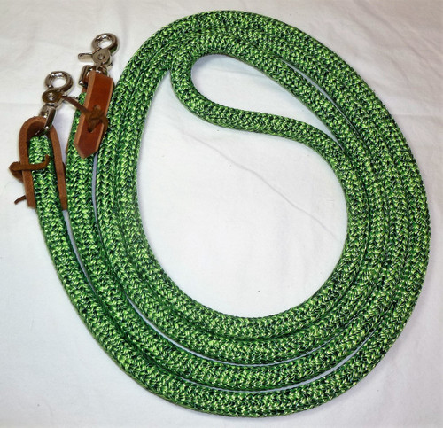 Hunter/Lime Blend Loop Reins