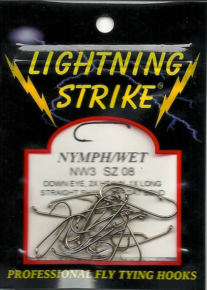 Lightning Strike Nymph/Wet Hook 25 count NW3