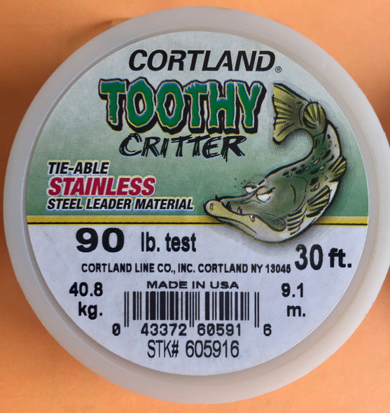 Cortland Toothy Critter Leader Material 90lb test 30 feet in length