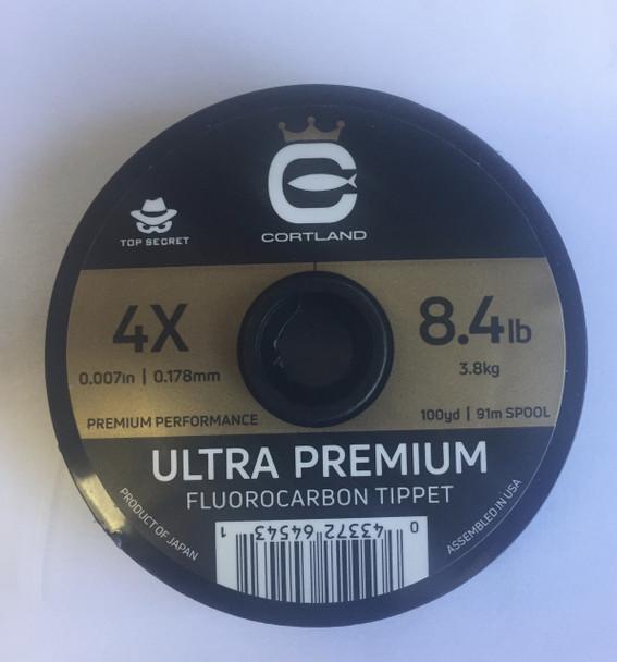 Cortland Top Secret Ultra Premium Fluorocarbon Tippet (100 yds)