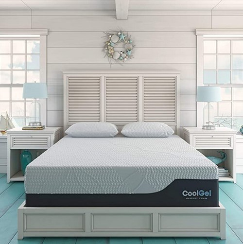 Classic Brands Cool Gel 2.0 Ultimate Gel Memory Foam 14-Inch Mattress (Medium-Plush Feel)