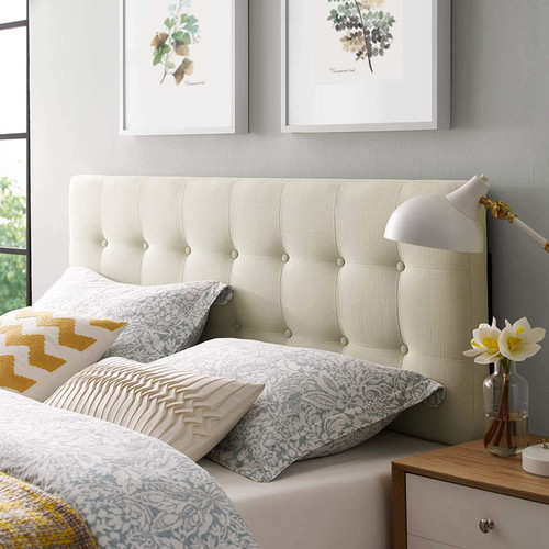 Modway Emily Tufted Button Linen Fabric Upholstered