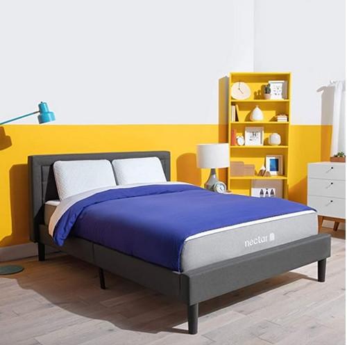 """Nectar Queen Mattress - Gel Memory Foam Mattress 10"""" Medium Firm - CertiPUR-US Certified Foams - Forever Warranty"""