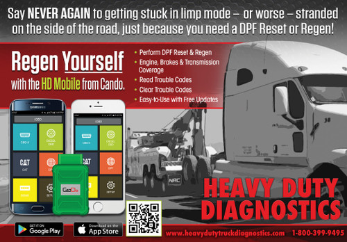 CanDo HD Bluetooth Mobile Commercial Heavy Truck Scanner with DPF Regens with Tablet
