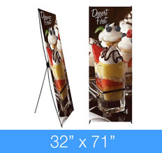 "X-Stand Banner Stand 32"" x 71"""